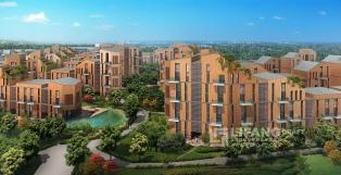 Landscape around housing development