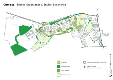 Existing Greenspace & Student Experience