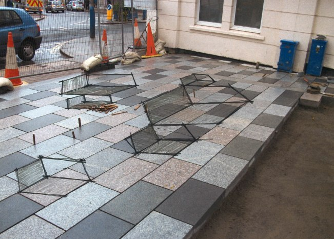 sketch over existing paving